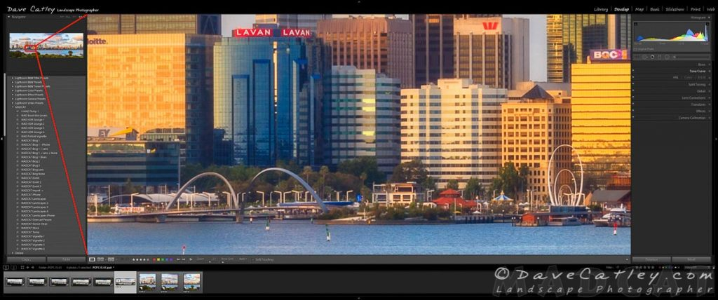 2:1 Zoom into Elizabeth Quay, Perth City Skyline, Perth, Western Australia