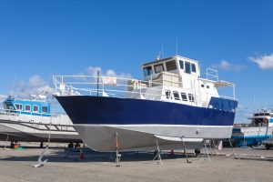 Photo Shoot of a Live-On Boat for Sale
