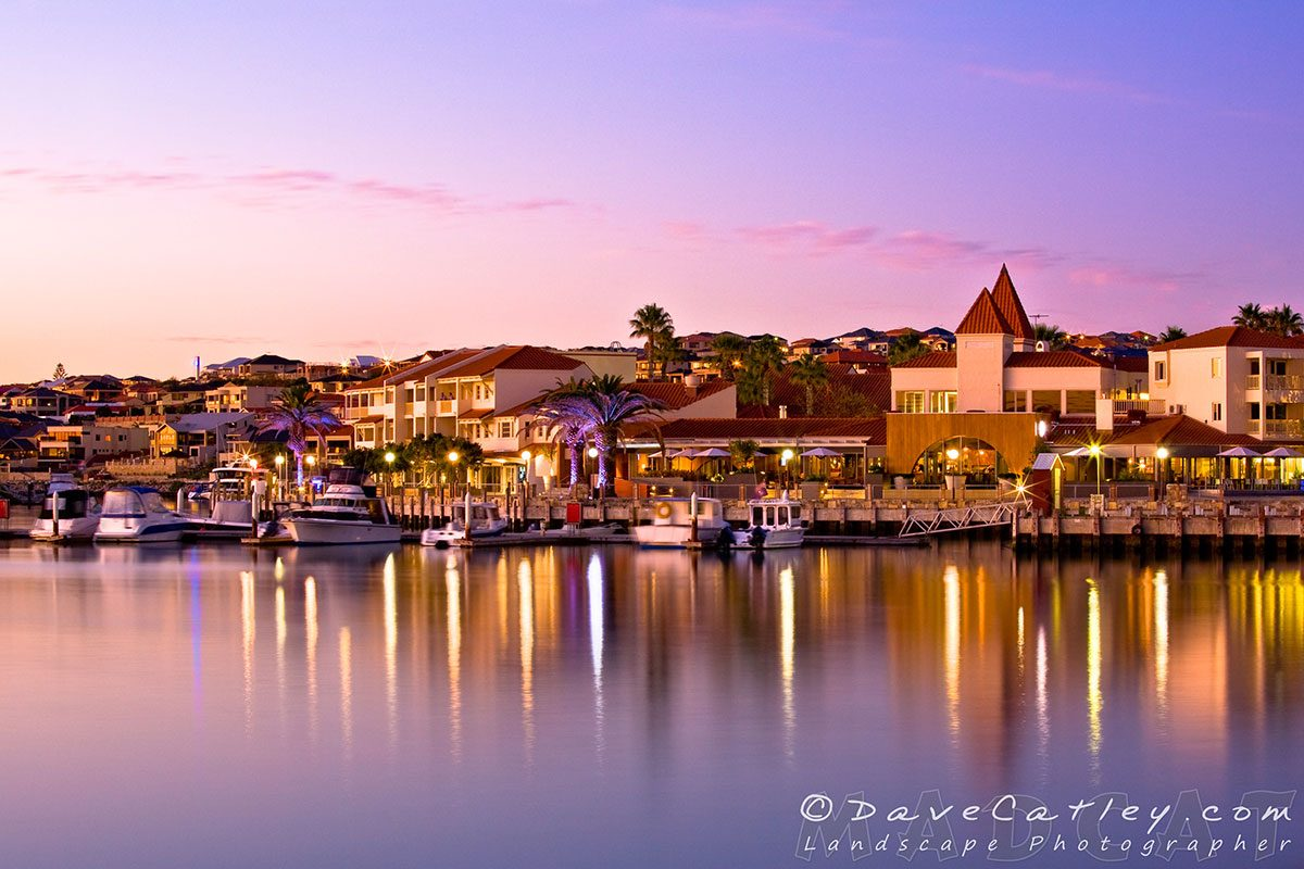 Marina Sunset, Mindarie Marina, Perth, Photographic Art