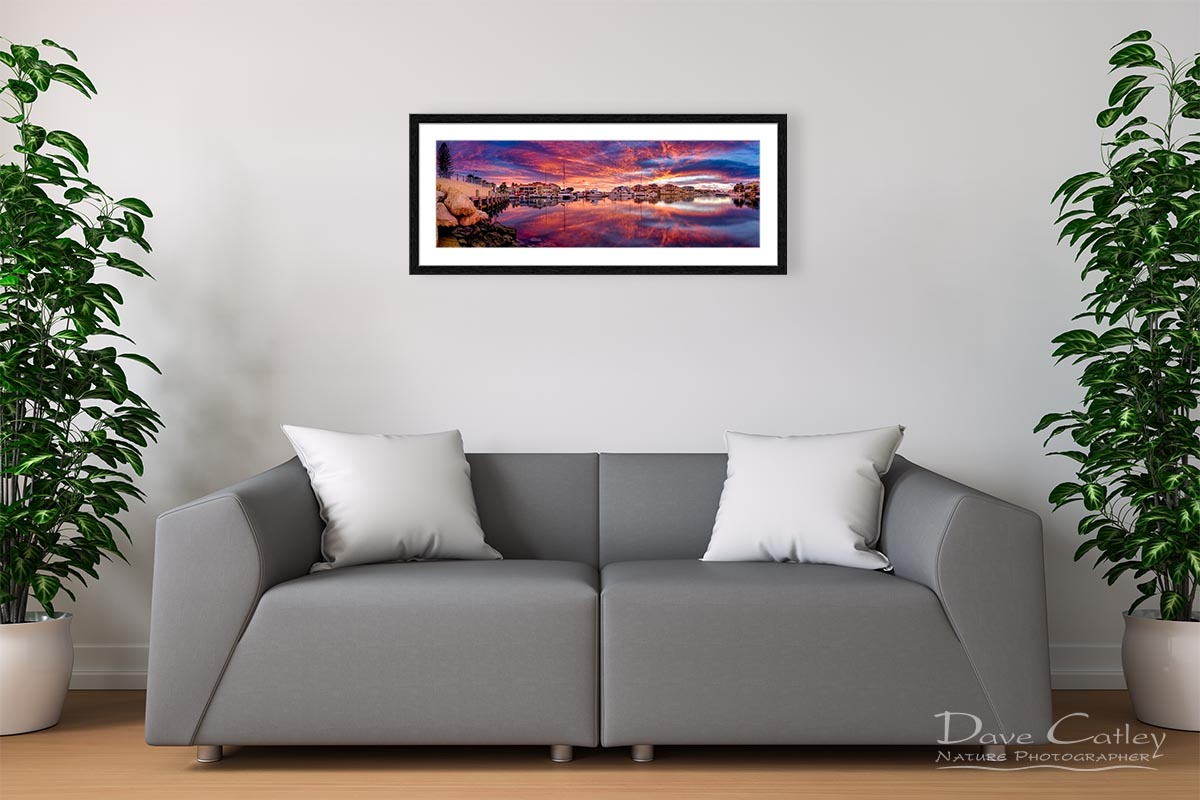 Marina Glow - Mindarie Marina, Mindarie, Perth, Western Australia, Seascape Print (MMP1.1-V3-PH1)
