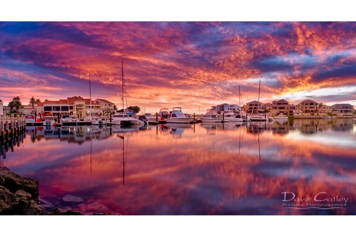Marina GLow - Mindarie Marina, Mindarie, Perth, Western Australia, Seascape Stubby Holder (MMP1.1-V3-SH1)