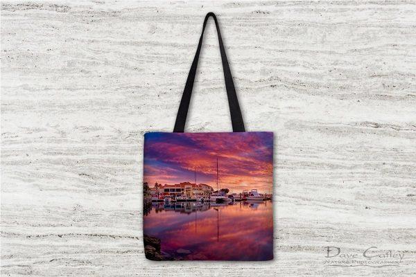 Marina Glow - Mindarie Marina, Mindarie, Perth, Western Australia, Seascape Tote Bag (MMP1.1-V3-TB1)