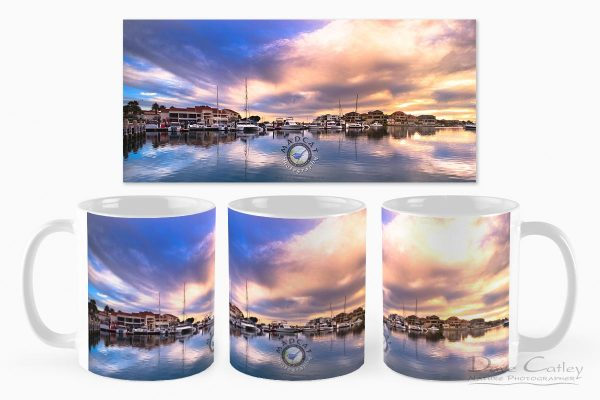 Marina Reflections - Mindarie Marina, Mindarie, Perth, Western Australia, Seascape Mug (MMP1.3-V1-MG1)