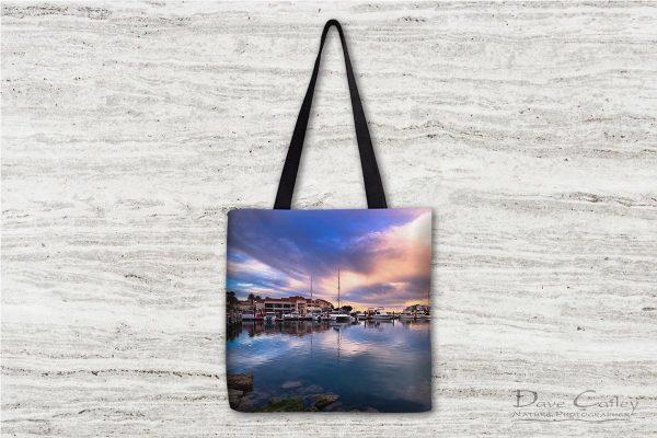 Marina Reflections - Mindarie Marina, Mindarie, Perth, Western Australia, Seascape Tote Bag (MMP1.3-V1-TB1)