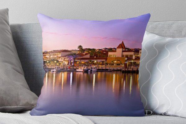 Marina Sunset - Mindarie Marina, Mindarie, Perth, Western Australia, Seascape Cushion Cover (MMS1.13-V3-CC1)