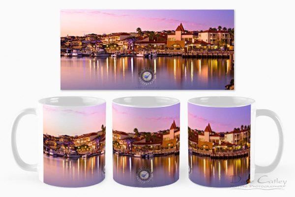 Marina Sunset - Mindarie Marina, Mindarie, Perth, Western Australia, Seascape Mug (MMS1.13-V3-MG1)
