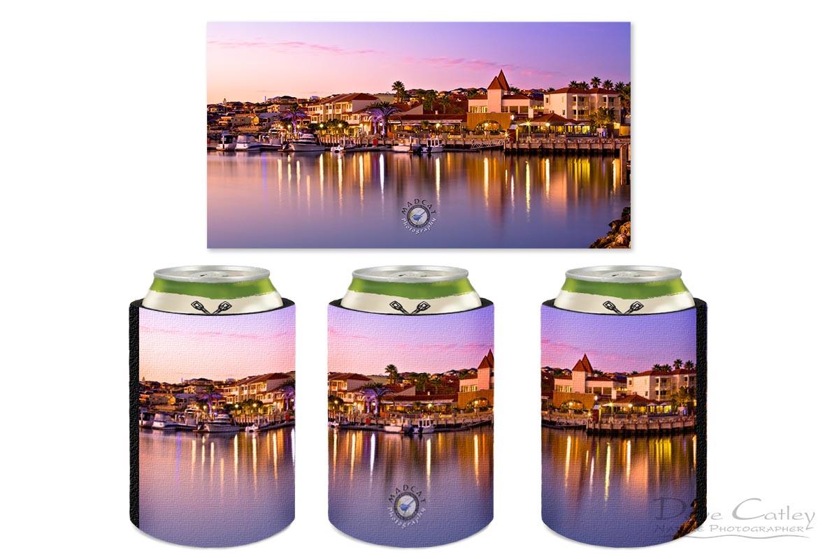 Marina Sunset - Mindarie Marina, Mindarie, Perth, Western Australia, Seascape Stubby Holder (MMS1.13-V3-SH1)
