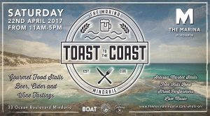 Mindarie Marina - Toast to the Coast Billboard - Stock Image