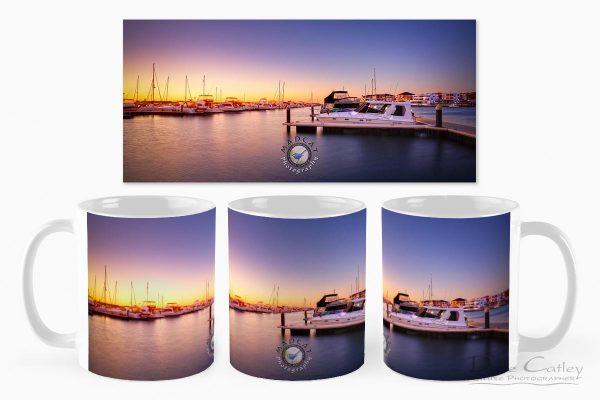 Marina Gold - Mindarie Marina, Wanneroo, Perth, Western Australia, Seascape Mug (MMS2.1-V1-MG1)