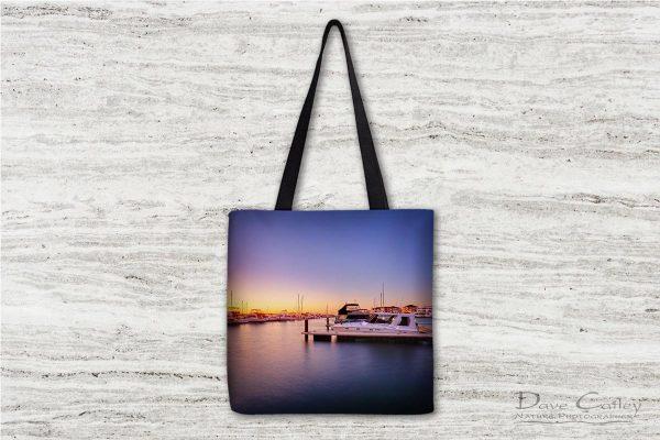 Marina Gold - Mindarie Marina, Wanneroo, Perth, Western Australia, Seascape Tote Bag(MMS2.1-V1-TB1)