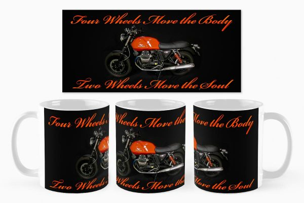 Custom Mug Design - Two Wheels Move the Soul