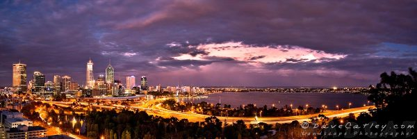 Perth City Nights, Kings Park, Perth, Western Australia - Photographic Art