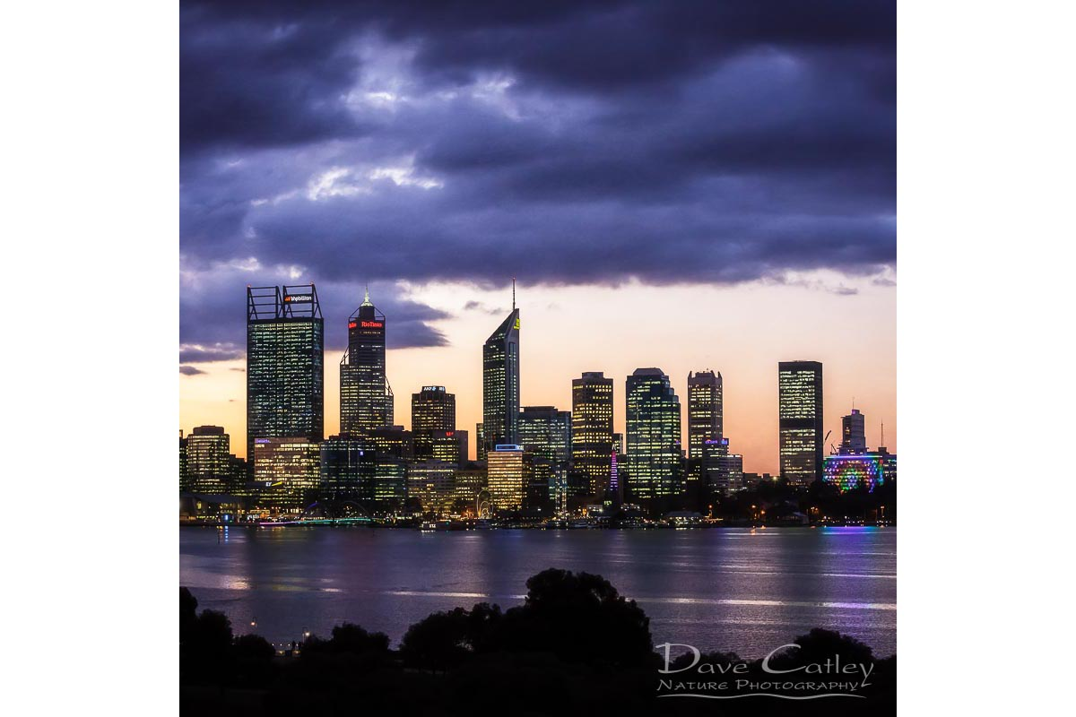 City Sunset - Perth Skyline, Perth City, Perth, Western Australia, Landscape Cushion Cover (PCV2.1-V1-CC1)