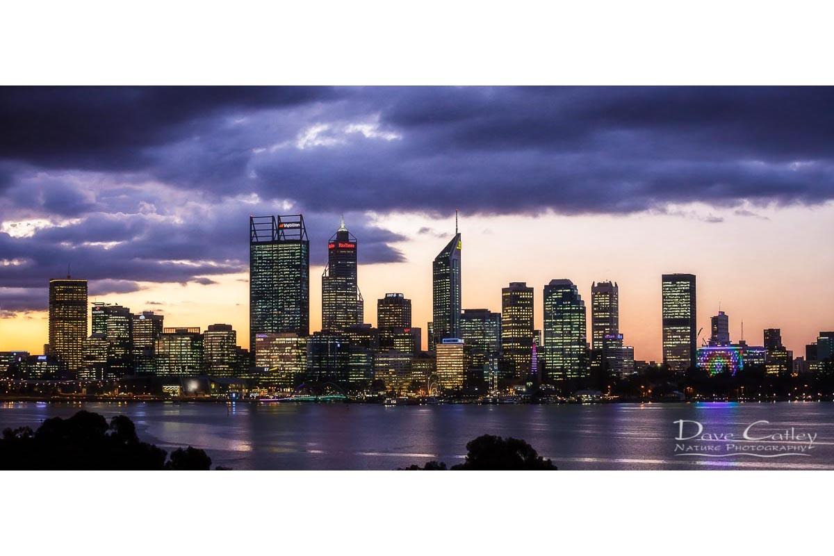 City Sunset - Perth Skyline, Perth City, Perth, Western Australia, Landscape Mug (PCV2.1-V1-MG1)