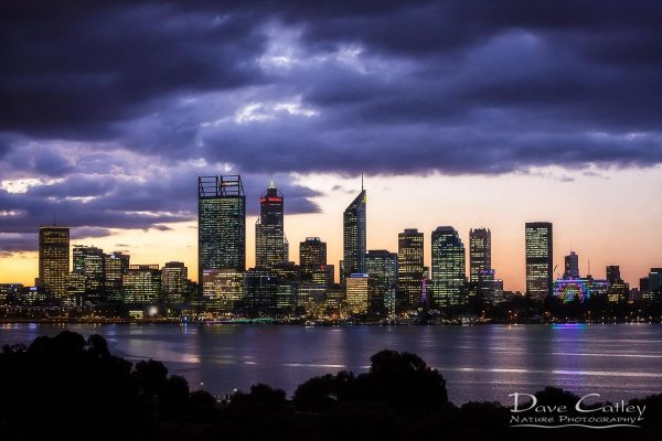 City Sunset - Perth Skyline, Perth City, Perth, Western Australia, Landscape Print (PCV2.1-V1-TH1)