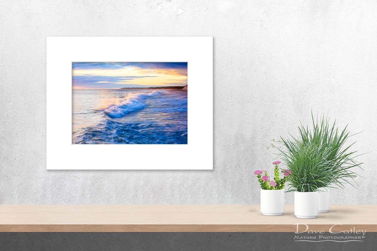Sunsets & Waves - Quinns Beach, Quinns Rocks, Perth, Western Australia, Seascape Print (QBV1.5-V1-TH1)