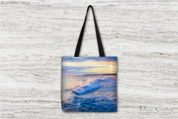 Sunsets & Waves - Quinns Beach, Quinns Rocks, Perth, Western Australia, Seascape Tote Bag (QBV1.5-V1-TB1)