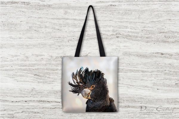 Scruffy - Red-Tailed Black Cockatoo, Native Animal Rescue, Perth, Western Australia, Wildlife Tote Bag (NAR1.11-V2-TB1)