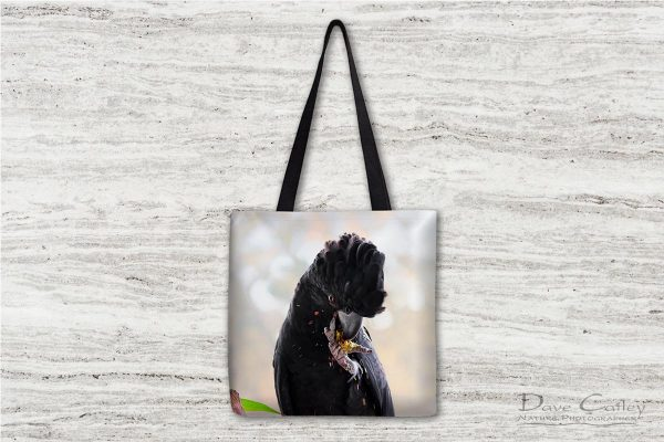 Exploding Nuts - Red Tailed Black Cockatoo, Native Animal Rescue, Perth, Western Australia, Wildlife Tote Bag(NAR1.17-V1-TB1)