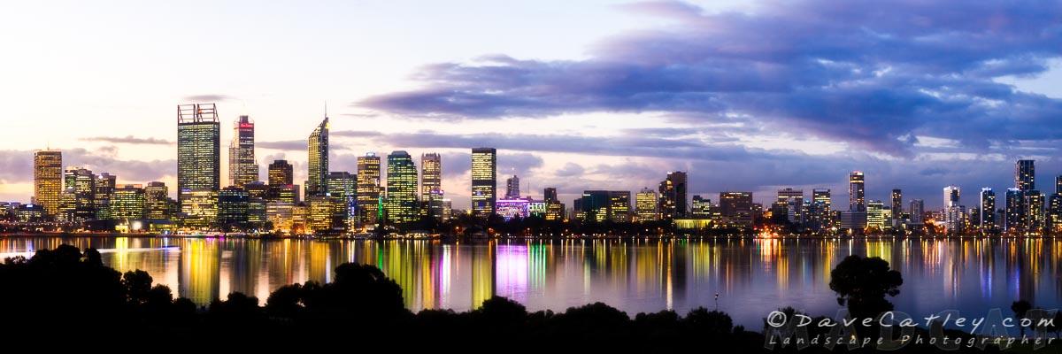 Sleepy City, Perth City Skyline, Western Australia - Photographic Art