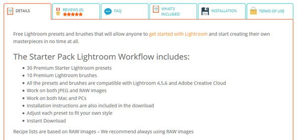 Starter Pack Lightroom Workflow by Sleeklens