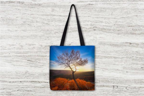 Dead River Tree - Sunset, Murchison River, Kalbarri, Western Australia, Landscape Tote Bag (KNP1.1-V1-TB1)