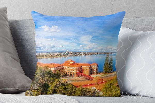 South of the Brewery - Swan Brewery, Kings Park, Perth, Western Australia, Landscape Cushion Cover (KPP1.2-V3-CC1)