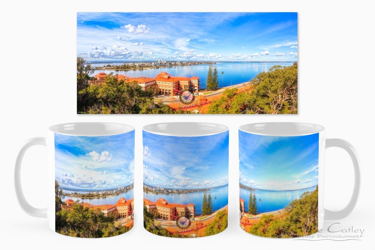 South of the Brewery - Swan Brewery, Kings Park, Perth, Western Australia, Landscape Mug (KPP1.2-V3-MG1)