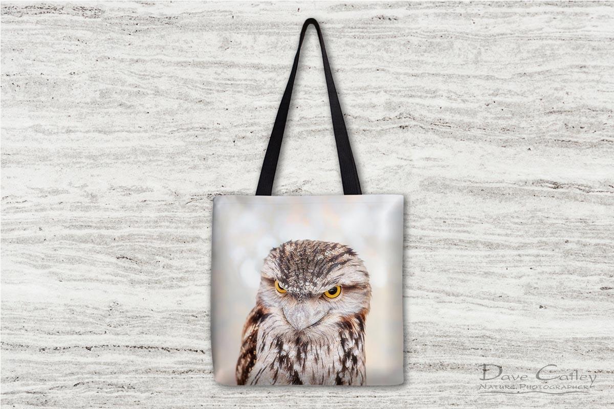 Max - Tawny Frogmouth, Native Animal Rescue, Perth, Western Australia, Wildlife Tote Bag(NAR1.13-V1-TB1)